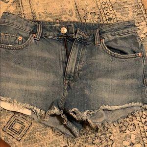 High Waist H&M Jean Shorts